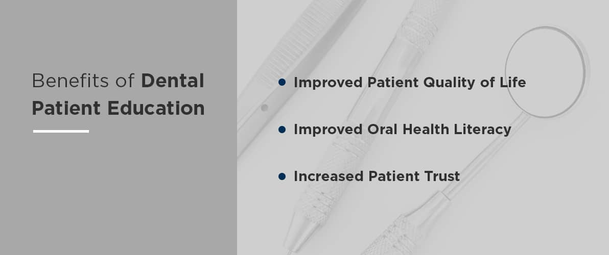 benefits of dental patient education