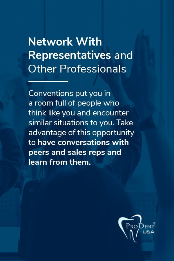 Network With Representatives and Other Professionals